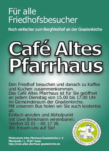 Cafe Altes Pfarrhaus @ Gnadenkirche